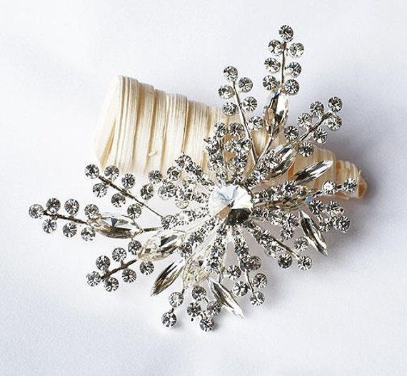 Rhinestone Brooch Crystal Brooch Bridal Brooch Bouquet Hair Comb Shoe Clip Wedding Cake Decoration Invitation DIY Supply BR088