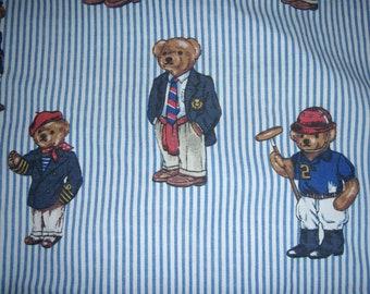 Teddy Bear Twin Flat Sheet - Reclaimed Bed Linens