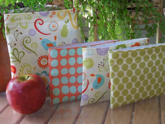 Reusable sandwich and/or snack bag - Reusable sandwich bag - Sandwich and snack bag set - Good life with snack bag of your choice