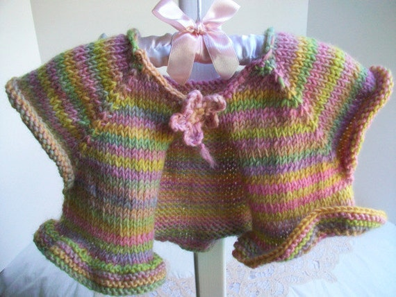 Ballet Shrug Knitting Pattern : Ballet Shrug Bolero Toddler Girl Cap Sleeved by sammysgrammy