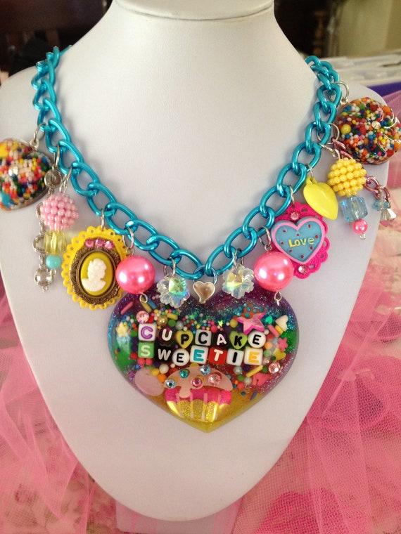 Cupcake Sweetie-Sweet Stuff Lolita- Kawaii Candy Resin Charm Necklace