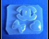Famous Logo-Bow and Heart Flexible Plastic Handmade Resin Mold-