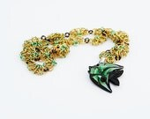 Flower Fish Chainmaille Necklace