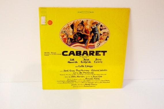 Vintage 1966 Cabaret Record Album Soundtrack