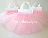 6 Sweet Baby Pink TUTU Sequins Party Favor Tutu Bags - Baby Shower Gift Bags