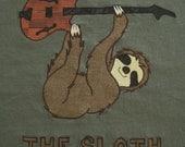 The Sloth PHISH inspired applique cotton tshirt