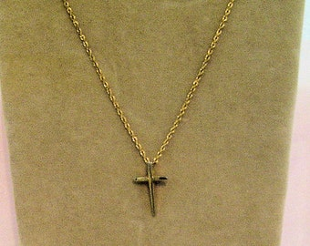 Tiny 1/20 12K Gold-Filled Cross Charm