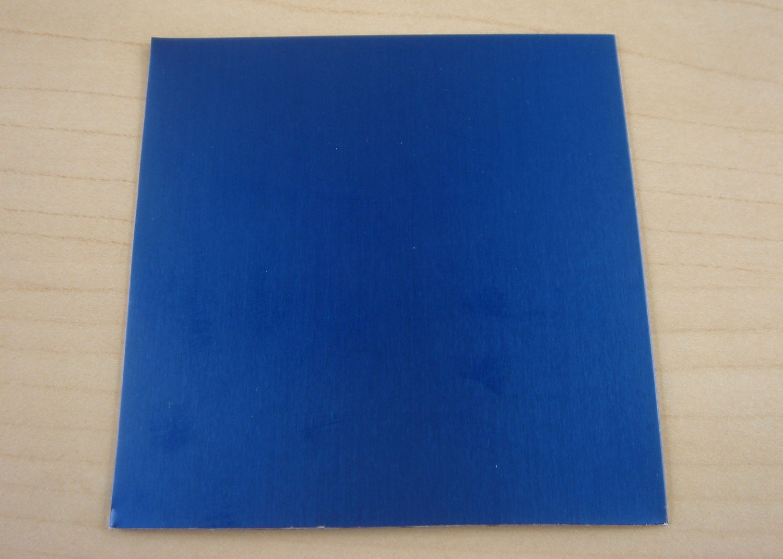 Items similar to 3x3 Anodized Aluminum sheet - Blue - 24 ...