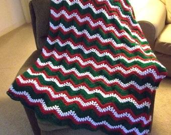 Afghan - Crochet Afghan for Christmas - Ripple Afghan