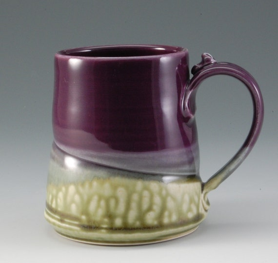 Purple Handmade Pottery Mug Porcelain by Mark Hudak