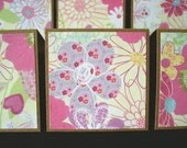 2x2 Mini Cards - Gift Tags - Blank Enclosure Note Cards - Mini Card Set - Girly Flowers (Set of 12)