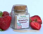 Organic Strawberry Face Scrub - vegan facial cleanser great for acne - Natural and eco-friendly Facial Breakfast series