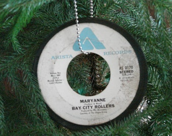 Bay City Rollers Record Ornament