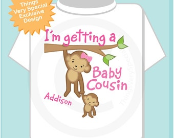 I'm Getting a Baby Cousin Shirt, Big Cousin Onesie, Personalized Big Cousin Shirt, Big Cousin Outfit top 08042012a