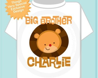 Personalized Big Brother Lion Head Tee shirt or Onesie