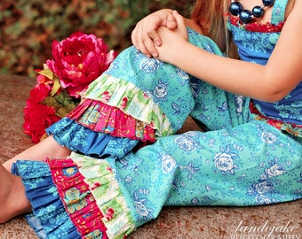 Special PRICE Ruffle Pants Pattern  Juvie Moon Designs PDF Download Kolette Boutique Custom E Book Tutorial