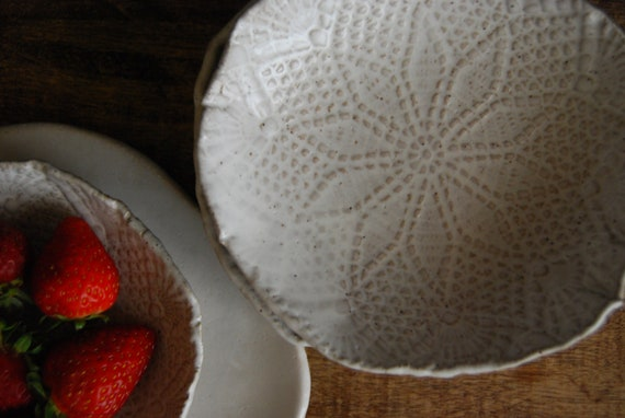 Ceramic bowl dessert plates Berry bowl - Bowls set of 4 - tapa plates  - dishes  Wedding Gift  - stoneware - dishware