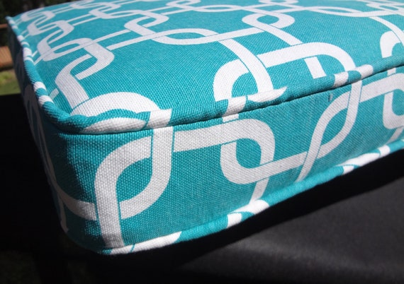 """Bench Seat Cushion Cover, Custom, Made to Order, Use Your Fabric, 73"""" x 15.5"""" x 2"""", Includes Double Piping and a zipper. Made to Order."""