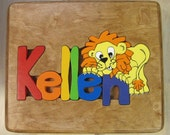 Handcrafted Personalized Puzzle Stools with Hand-Detailed Picture