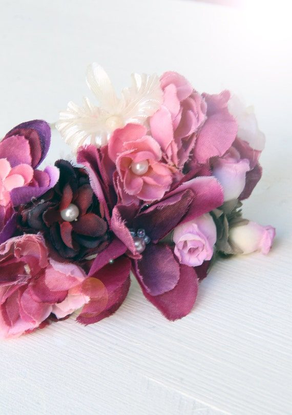clearance sale flowers hair crown Vintage inspired hair accessory - floral headband