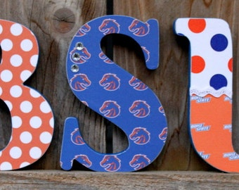 BSU BOISE STATE Wood Letters