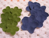 Green and Blue Floral Shaped Felt