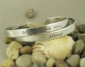 After all this time...Always Set of 2 Harry Potter inspired Bracelet - Harry Potter Gift - Hand Stamped Cuff Bracelet