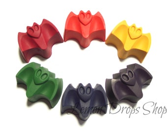 Bat crayons set of 6