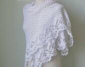 VICTORIA, Crochet shawl pattern pdf