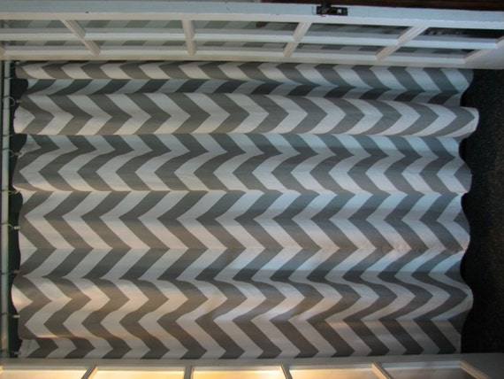 Gray And White Chevron Shower Curtain