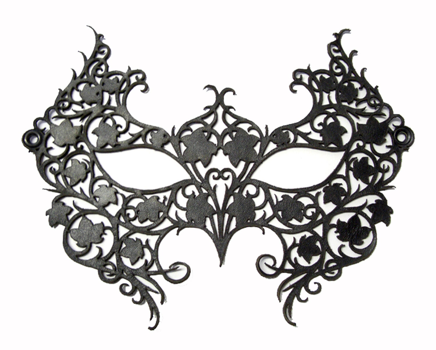 Black Laser Cut Leathe...