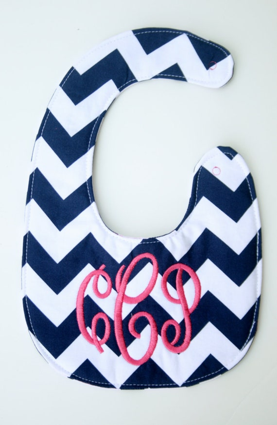 Personalized bib, Monogrammed bib, Baby shower gift, Seersucker bib, You Customize (ON SALE for a LIMITED time)