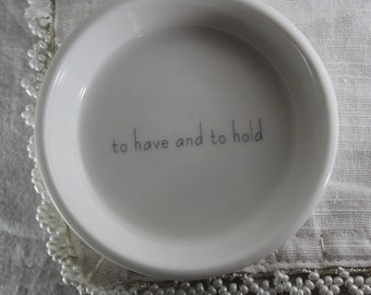 Ceramic Ring Holder -  to have and to hold