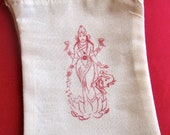 Lakshmi Prayer Bag a bag for prayer beads and mediation objects diwali bag