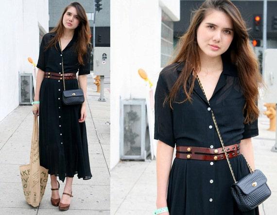 WIDE Brown Leather Belt - waist belt - vintage belt - fashion belt - women leather belt - gift for her- BOGO SALE