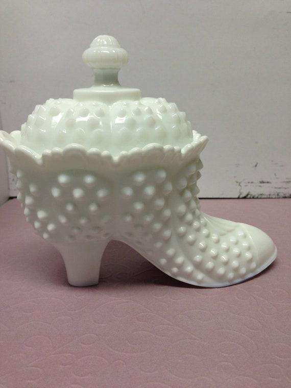 Fenton White Hobnail Shoe
