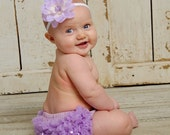 Lavender Chiffon Ruffle Bum Bloomer Diaper Cover Photo Prop Hot Pink Pink black white Turquoise Red- My2lilpixies