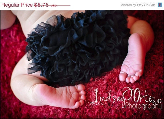 READY to ship- BLACK Chiffon Ruffle Bum Baby Bloomer, Baby Girl  Diaper Cover, Bloomer -Photo Prop- 24 colors to choose from-My2lilpixies