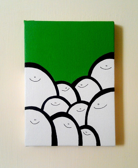 Acrylic Painting On Canvas - Original - Cheps - Green Version