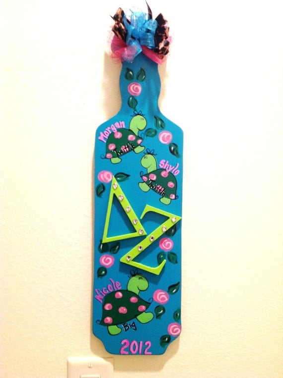 delta zeta paddle sorority greek by twopinkdots on etsy