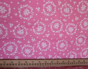 Flower Sugar Fabric by Lecien  Roses on Pink 30367-20