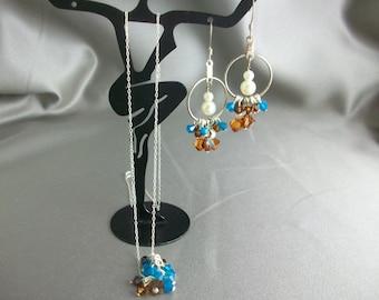 Sterling silver Necklace Set