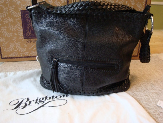 """Sale...Brighton Black Leather Purse with Outside Pocket """"Caprice"""""""