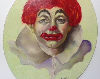 Clown in Oil Hand Painted