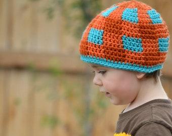 Gingham Plaid Beanie - Kids Custom Crochet Hat