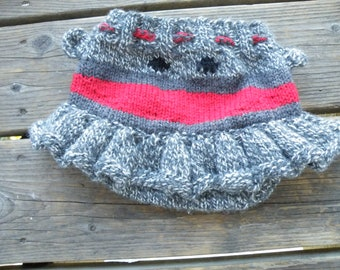 Size Large (18 M) sock monkey skirty READY TO SHIP ships free