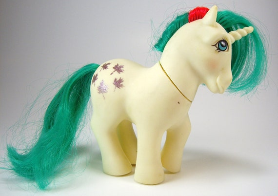 1984 Toys For Girls : Vintage my little pony gusty the unicorn g white