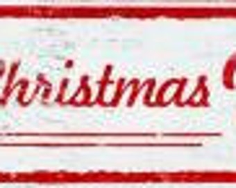 Merry Christmas Y'all! Rustic wooden holiday sign  8 x 30