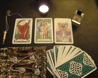 3 Question Mini-Reading with Tarot and Pendulum (via Typed Email)