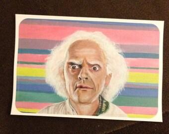 Doc Brown Pop Art Sticker Back to the Future Fan Art